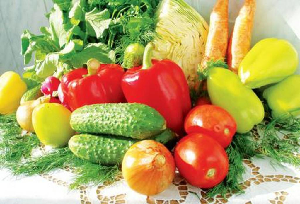 Чтобы были овощи на столе